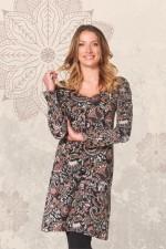 Poppy L/S Stretch Cotton Tunic - Persian Print