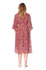 New Nania Rayon Dress - Sherbet Print