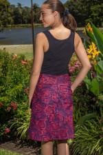 Melissa A-Line Cotton Skirt - Garland Print